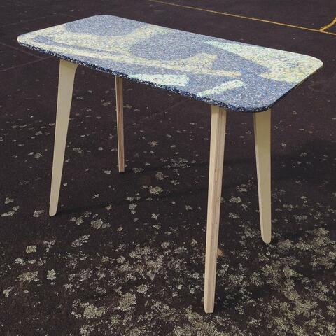 Standing Skinny Trestle with starry night recycled plastic mix