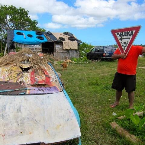 Seleka clubhouse, Tonga  before the Cyclone. Photo by Virginie Dourlet