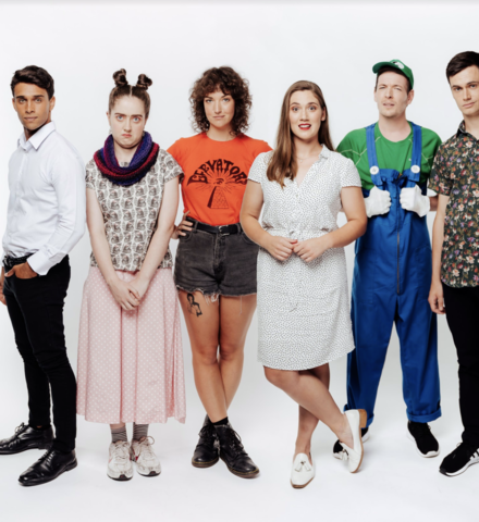 The core cast of the series from L to R; Jordi Webber, Bronwyn Ensor, Lucy Suttor, Beth Alexander, Adam Brown, Jacob Dale - Credit: TVNZ