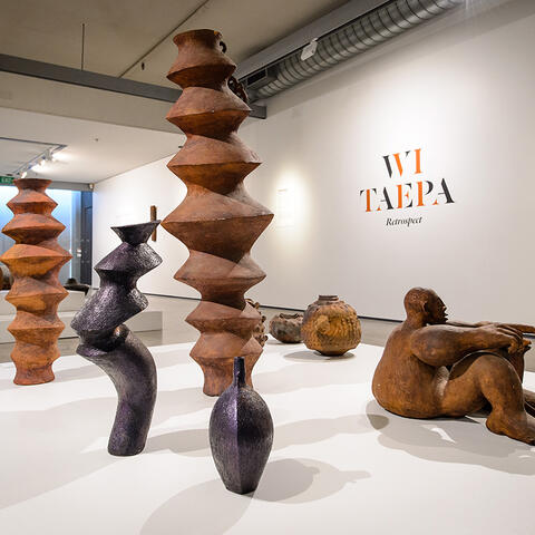 Wi Taepa Retrospect exhibition at Pataka - Photo by Mark Tantrum