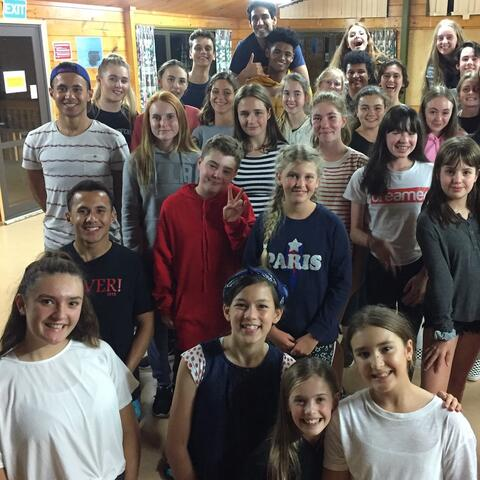 Beauty and the Beast students camp. Image courtesy of APAA