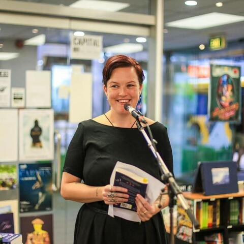 Emily Writes at her book launch