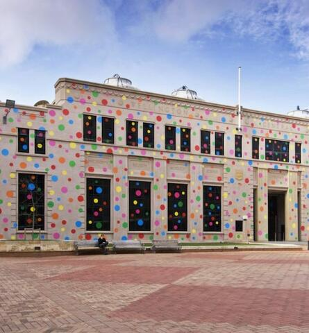 Dots for Love and Peace. 2009 installation by Yayoi Kusama at City Gallery Wellington. Courtesy of the artist and City gallery Wellington