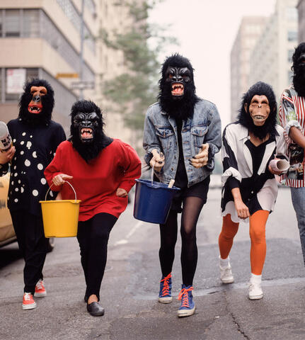 Guerilla Girls, 1990. Courtesy George Lange