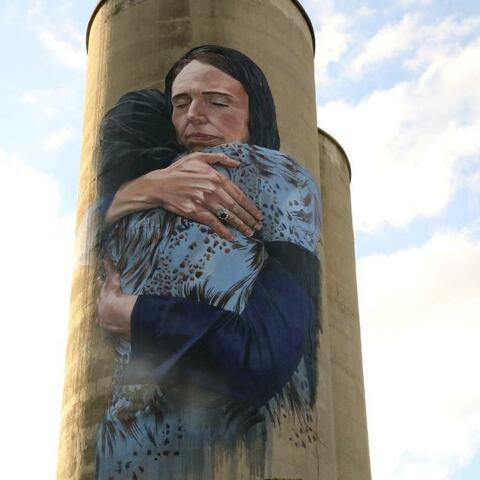 A mural of Jacinda Ardern following the Christchurch mosque attacks in Melbourne, Australia.