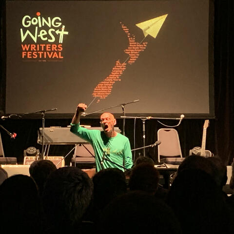 Apirana Taylor performing this last weekend at Going West Festival (can work for Te Wiki week also)