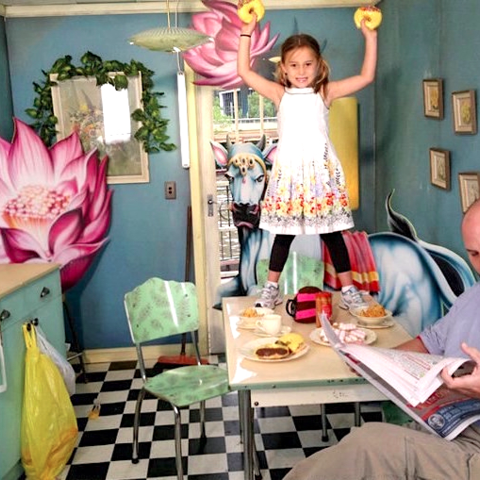 Eric Holowacz and his daughter. Credit: David laChapelle
