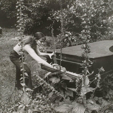 Annea Lockwood performing  'Piano Garden' back in the 1960s. Credit: Chris Ware