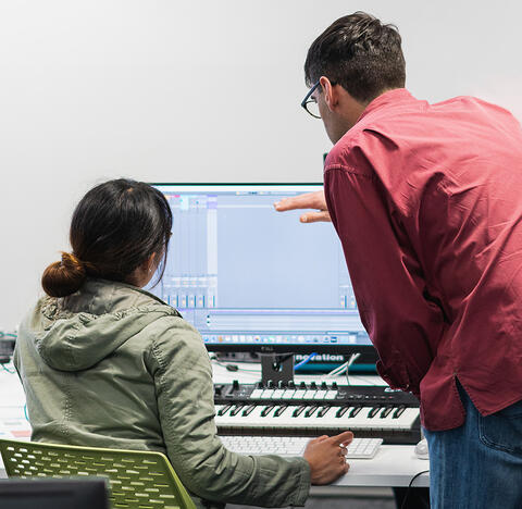 Callum Campbell (right) is the founder of Discholars, which offers music lessons using digital and electronic instruments in a new way.