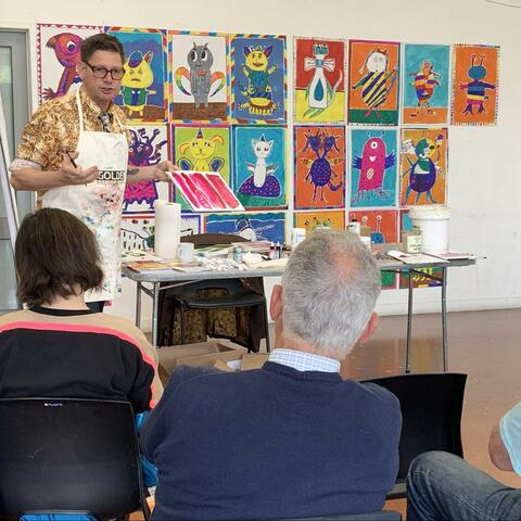 Evan Woodruffe Workshop, January 2020, Mairangi Art Centre