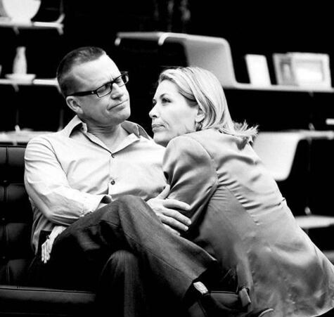 Jennifer with husband Michael Hurst. Photo by Andrew Malmo for Silo Theatre's production of The Goat.