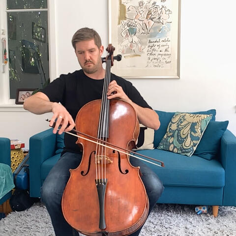 NZSO Section Principal Cellist Andrew Joyce performing at home as part of the first NZSO Play Our Part concert on 25 March. Photo: Latitude Creative.