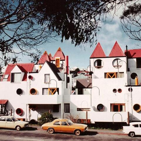 Park Mews apartments, Wellington, architect Roger Walker.