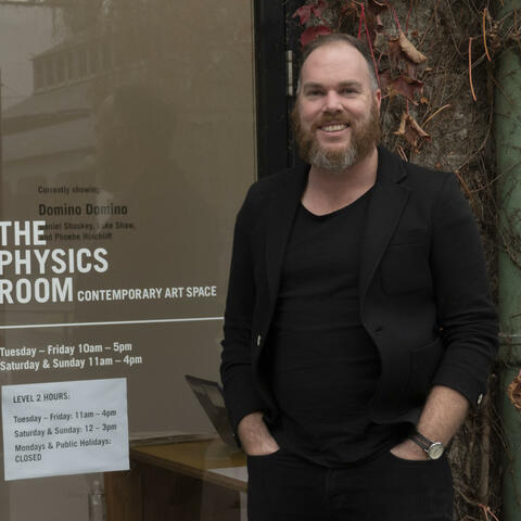 The Physics Room director Jamie Hanton at the gallery's new space on the Christchurch Arts Centre campus. Photo: Nigel Malthus
