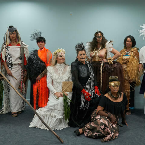 Backstage Pacific Sisters Fashion Activists opening, Te Papa Tongawera Photography: Kerry Brown 2018