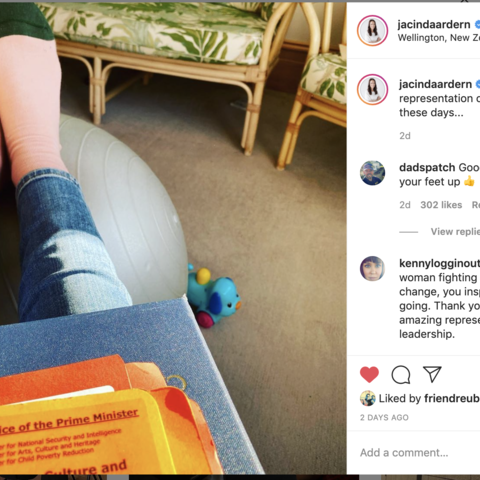Jacinda Ardern's socks support NZ Music, Image: Instagram.