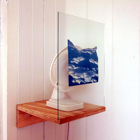 Shannon Reed - Cloud Farming Fan, Plywood, Clouds, Electricity.