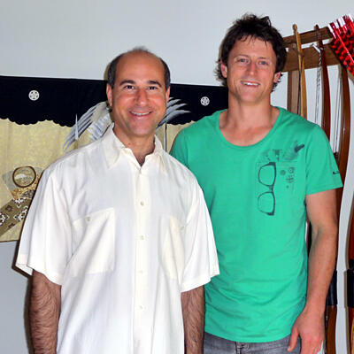 Ande Schurr (right) with his mentor and business coach David Samuel.
