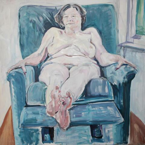 Harriet Bright, Kayte, Oil on canvas, About two-thirds life size, Adam Award 2010 - winner, NZ Portrait Gallery.