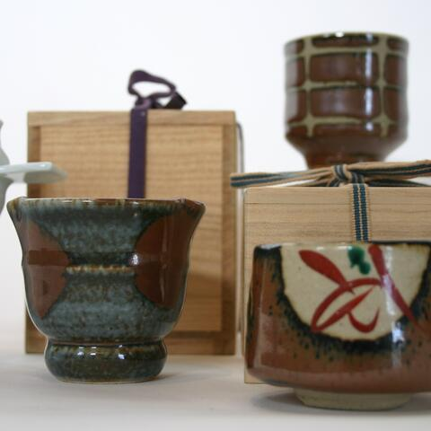 """Installation image: """"Yunomi and Choko: the art of the everyday"""". Courtesy Rick Rudd Collection."""