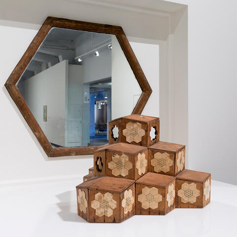 Edgar Roy Brewster, Model for Communal Living, 1970. Demented Architecture installation View at City Gallery Wellington, 2015.