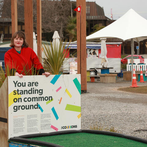 Art of Recovery: Coralie Winn at The Commons, the former Crowne Plaza site, corner Kilmore and Durham St, Christchurch.