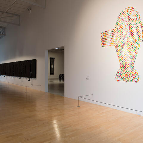 Lonnie Hutchinson, Black Bird installation view. Photo / John Lake.
