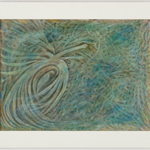 Inanga (whitebait) 2013, acrylic and oil on canvas, 580 x 735 mm