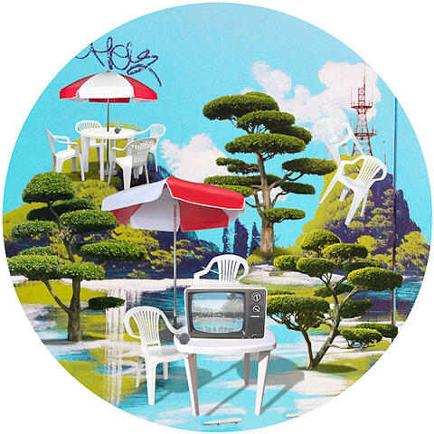 Kerry Ann Lee, Electric Bayou, 2013, digital lambda print in antique Chinese frame, 460 mm diameter