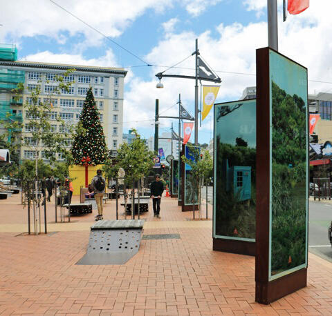 'The Huts of Welling Town' Courtenay Place Lightboxes, until 31 March.