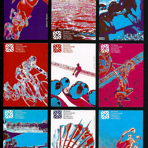 Posters designed by Christchurch designer Bret De Thier.