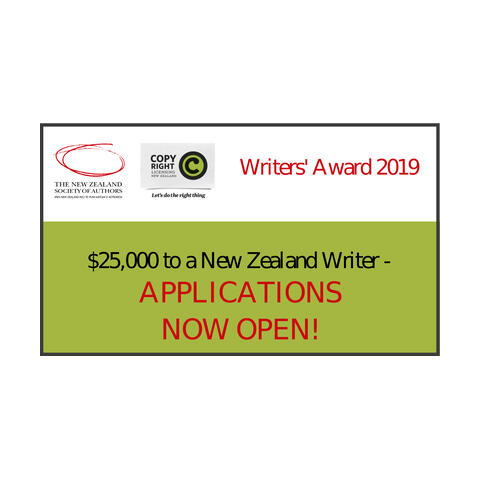 NZSA / CLNZ Writers' Award 2019 open now