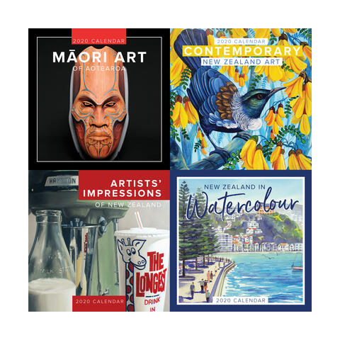 2020 NZ Art Calendar covers