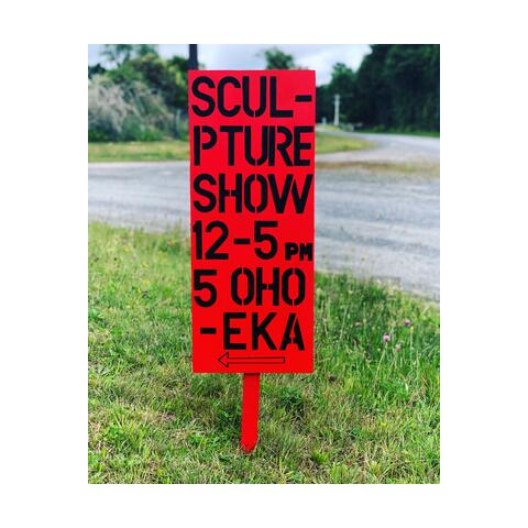 Owhango Summer Sculpture Show Sign