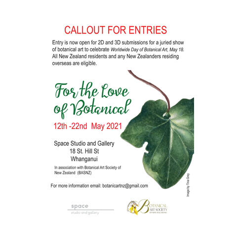 Callout for entries to 'The Love of Botanics' - botanical art exhibiton