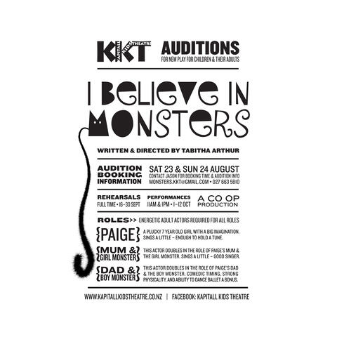 Auditions: new play for kids & their adults | Work | The Big