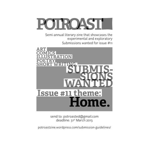 Potroast Call for Submissions Poster