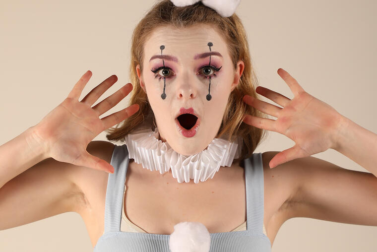 Abby Howells as HarleQueen, produced by Arcade Theatre Company