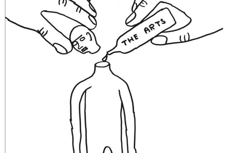 Illustration by David Shrigley via culturehealthandwellbeing.org.uk