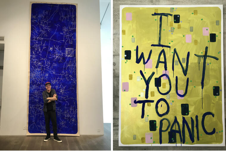 John Reynolds, and his work 'I want you to panic'. Supplied.