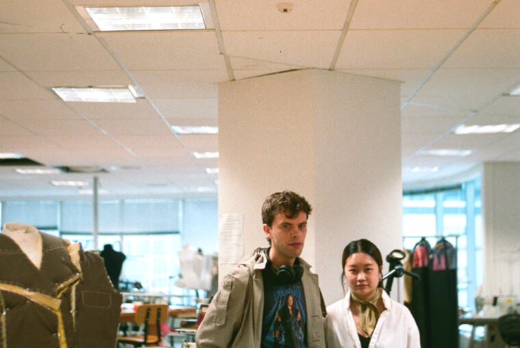 Fourth year students Tom Munday and Bianca Lim-Yip at Whitecliffe. Photo: India Essuah