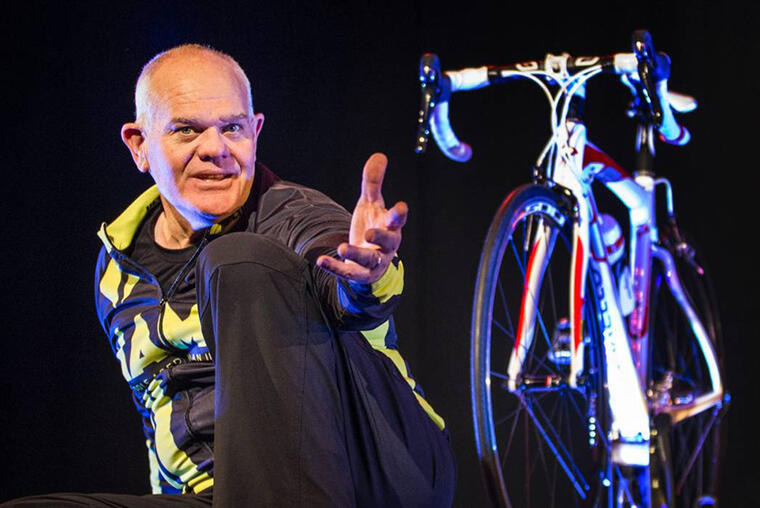 Mark Hadlow in MAMiL at Centrepoint Theatre. Image by David Walker, Stuff.